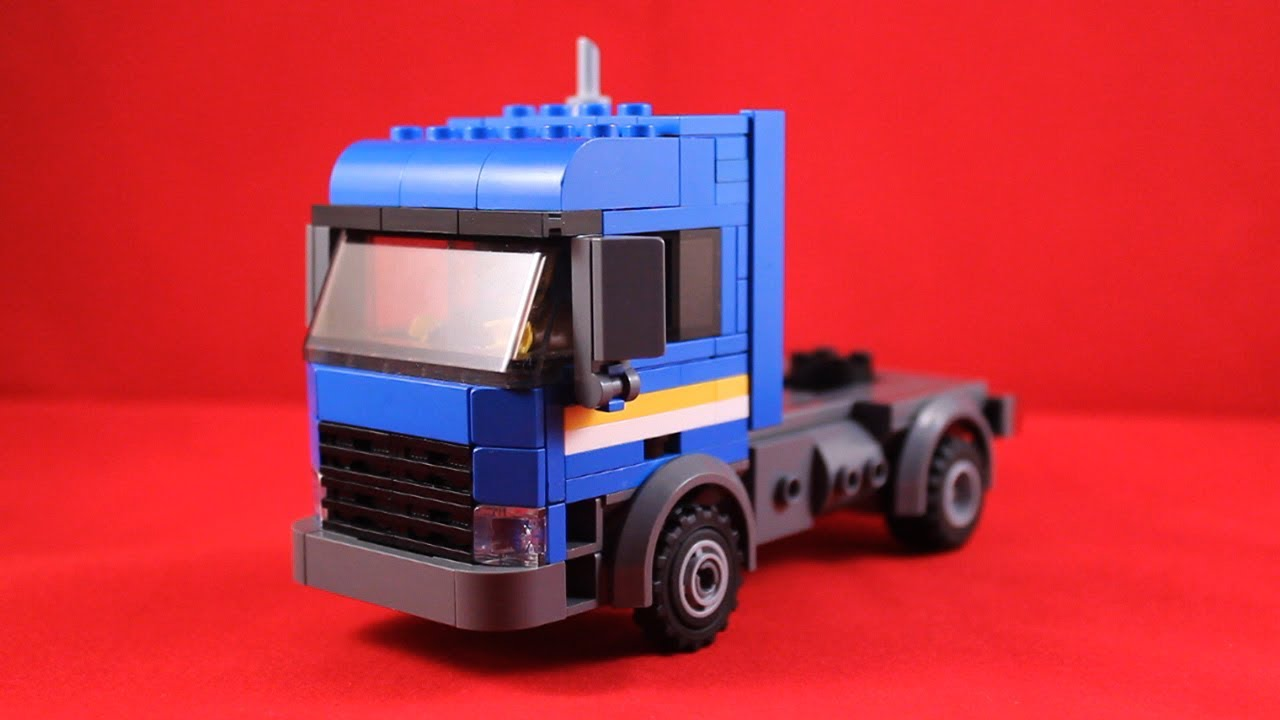 instructions on how to build a lego semi truck