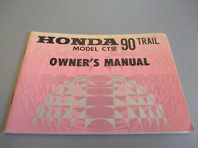 1968 honda ct90 owners manual