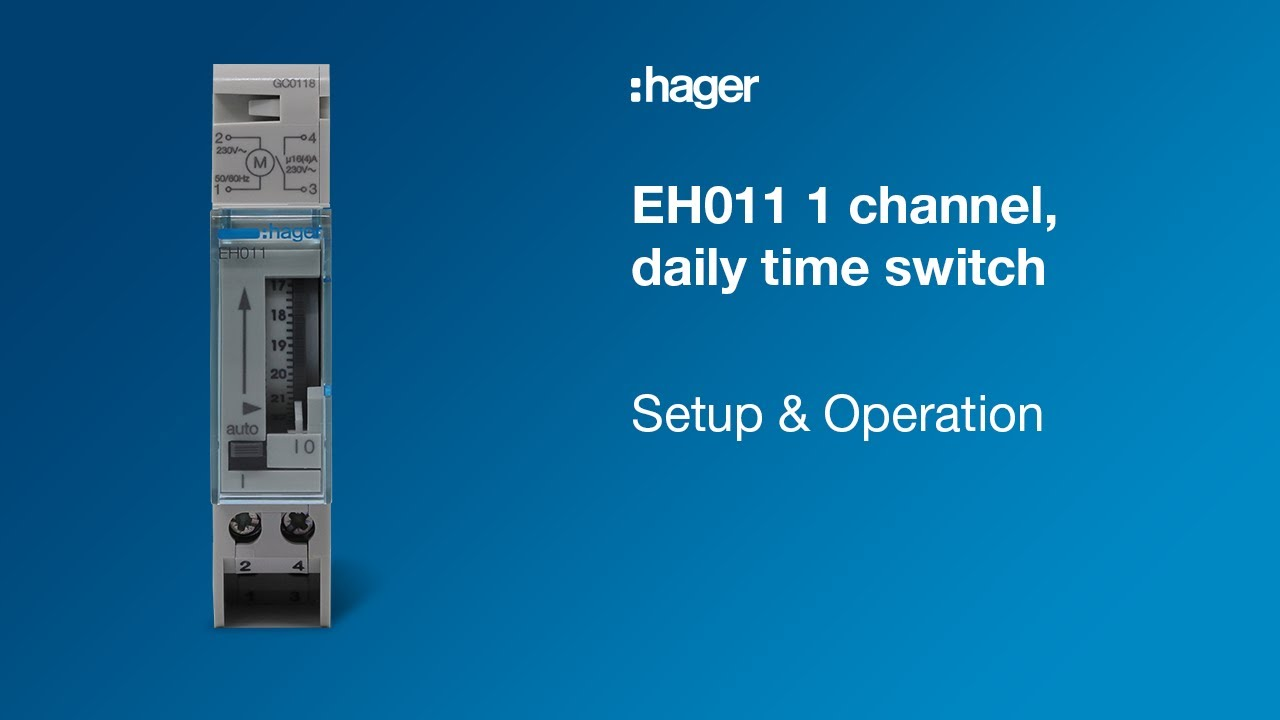 Hager eh010 timer switch manual