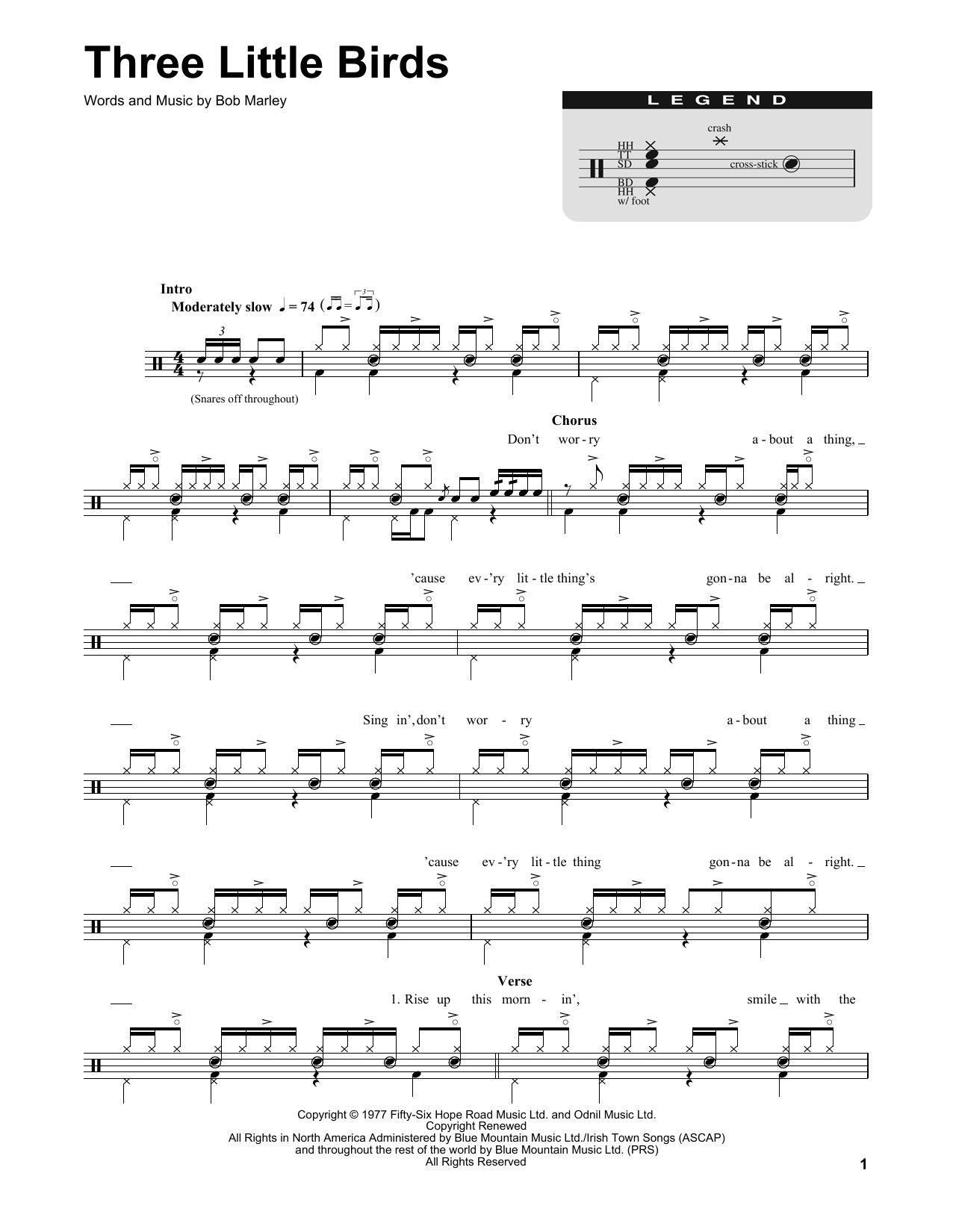 Three little birds ukulele chords pdf