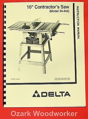 Delta 34 410 table saw manual