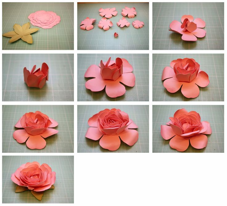 how to make a paper rose step by step instructions
