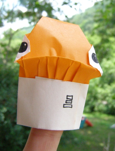 Origami yoda finger puppet instructions