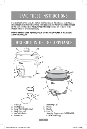 oster rice cooker instructions 5711