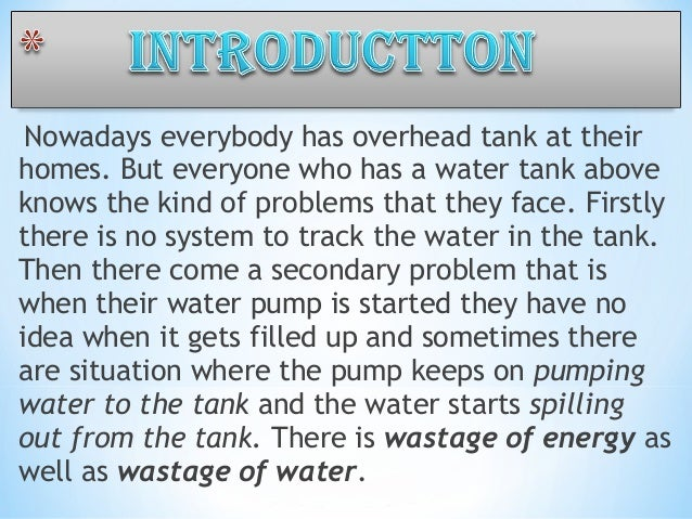 Project report on water level indicator pdf