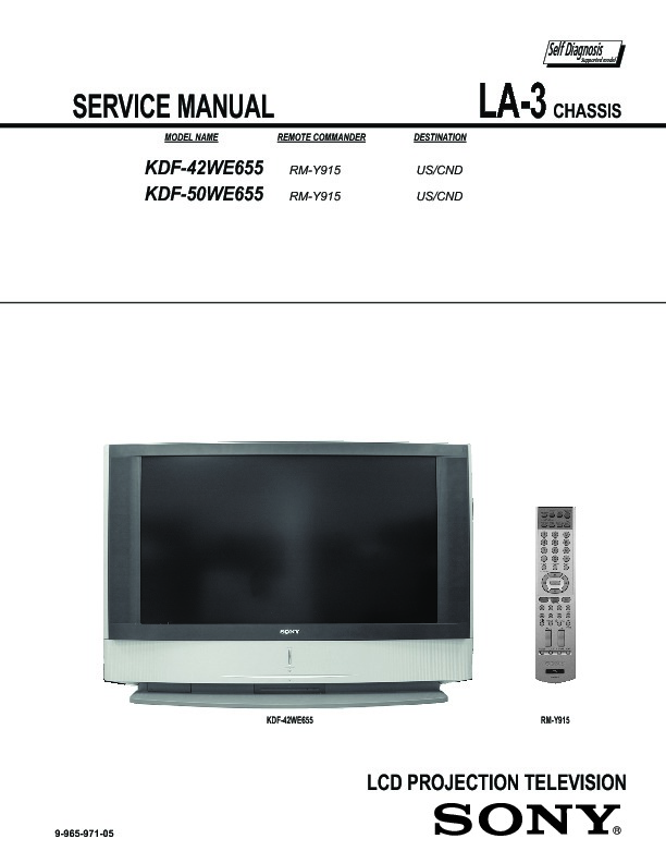 sony lcd projection tv manual