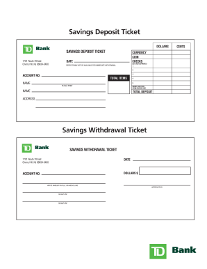 Td bank how to find direct withdrawal form